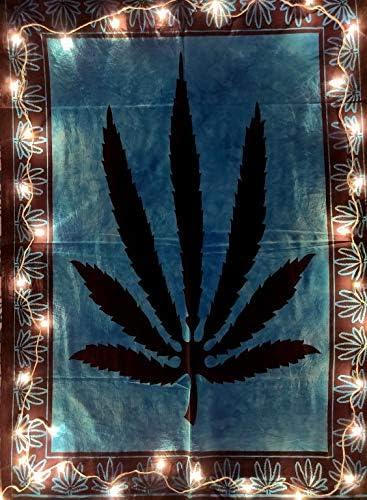 "Marijuana leaf Ganja Me Weed Home Hippie Decor Cotton Poster Wall Hanging 30X40/"""