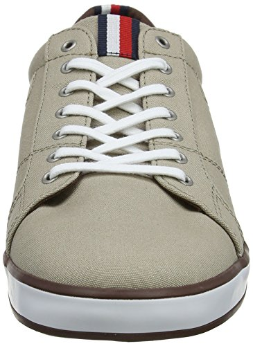 Tommy Hombre Lace Sneaker Iconic 068 Cobblestone Beige Long Zapatillas para Hilfiger 7F70crnR