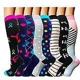 ACTINPUT Compression Socks Women & Men 15-20mmHg - Best Medical,Nursing,Hiking,Travel & Flight Socks-Running & Fitness (Large/X-Large, Assorted 21-8 Pack)
