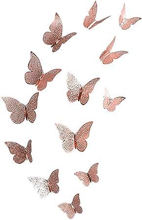 12 pcs décoration murale papillon stickers miroir 3D maison intérieur fête DIY