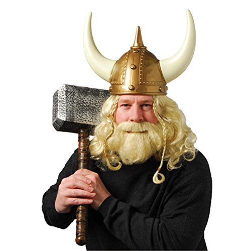 US Toy One Adult Plastic Viking Helmet]()