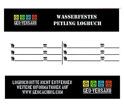 Logbuch NEU PETling 9cm oranger Deckel Geocaching Geocache
