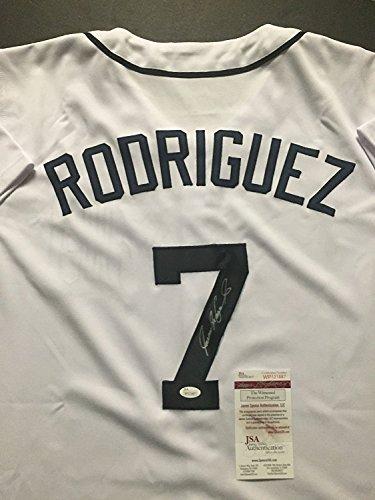 AutographedSigned-Ivan-Pudge-Rodriguez-Detroit-Tigers-White-Baseball-Jersey-JSA-COA
