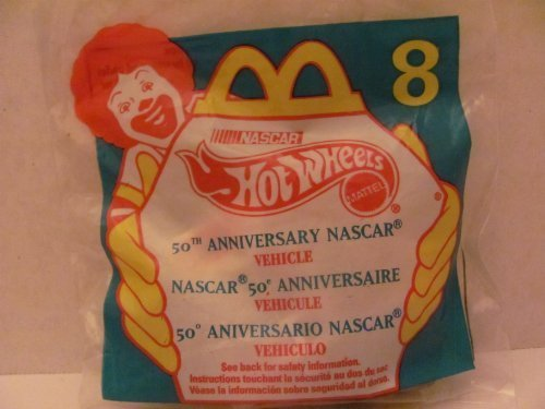 Mattel HOT WHEELS - McDONALDS Happy Meal TOY Die Cast CAR - 50TH ANNIVERSARY NASCAR #94 - Bag #8 - 1998 / China (Comes in Original UNOPENED Bag) / *For Children Age 3 and Over / May Contain Small Parts*