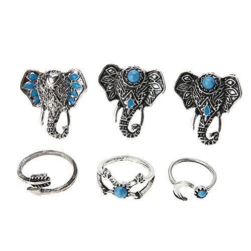 6pcs Knuckle Rings - 9