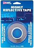 """Incom RE1125  Red/Silver 1"""" x 25' High Visibility Reflective Safety Tape"""