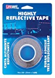 Incom RE1125  Red/Silver 1'' x 25' High Visibility Reflective Safety Tape