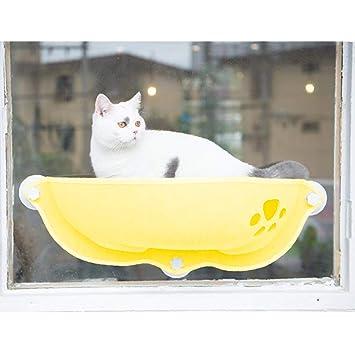 Amazon.com: DAN&LAN hamaca para ventana de gato con ventosas ...