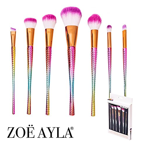 Zoë Ayla® Makeup Brush Set, Premium Mermaid Unicorn 10 Pie