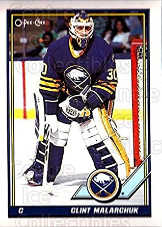 Amazon Com Ci Clint Malarchuk Hockey Card 1991 92 O Pee Chee