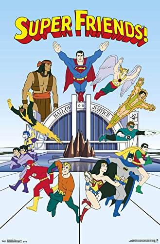 Super Friends - Team Poster 22 x 34in  80s wall art   Amazing Wall Art Made From '80s Cassettes and Wire Nuts 51HHOU lBAL
