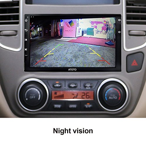atoto ac 4481 waterproof high definition license plate car rear view camera with night vision led. Black Bedroom Furniture Sets. Home Design Ideas