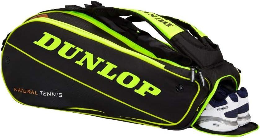 Dunlop 0045566908360 Fundas de Raquetas Unisex-Adult Yellow//Black