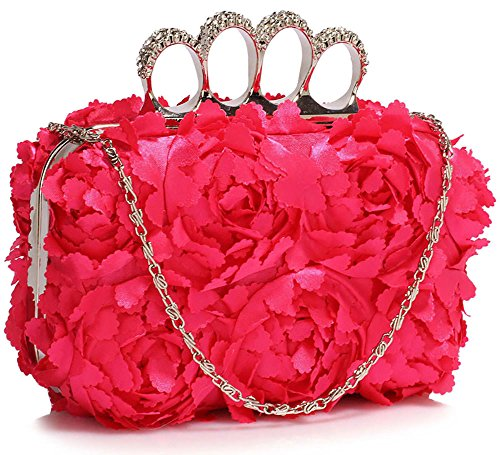 Pink Hardcase 1 Clutch Chain Ladies With New Design Designer Bag Box Look Design Handbag Floral Evening xUgZqT