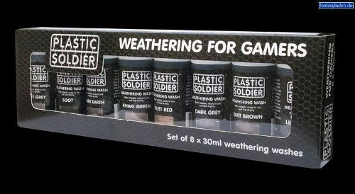 Plastic Soldier Set of 8 30  Weathering Washes for giocos   WSET01