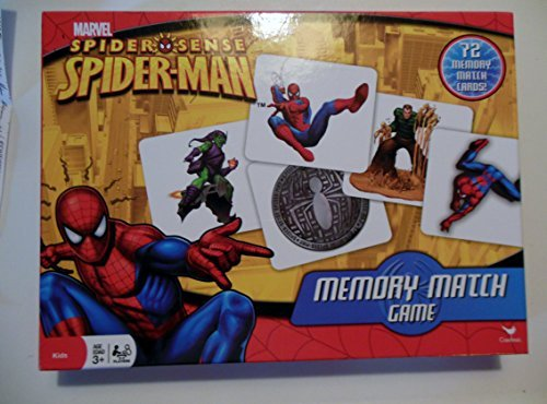 Marvel Spider Sense Spiderman Memory Match Game