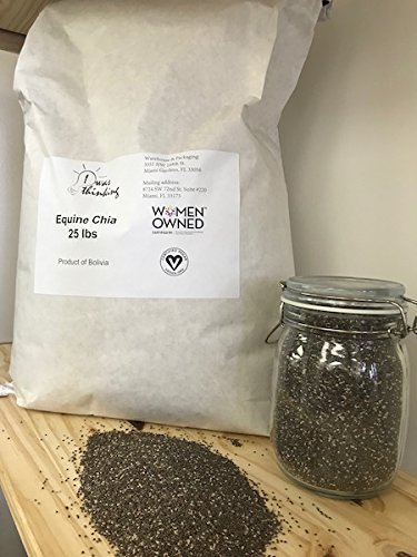 Equine Chia, Natural, Seeds, Supplements, 25 Pounds, 25 Lbs, Black