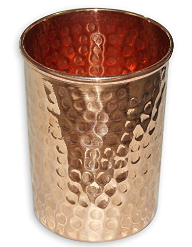 STREET CRAFT Copper Tumbler Hammered Copper Glass Cup for Healing Ayurvedic Product Health Benefit Capacity 9 Ounce