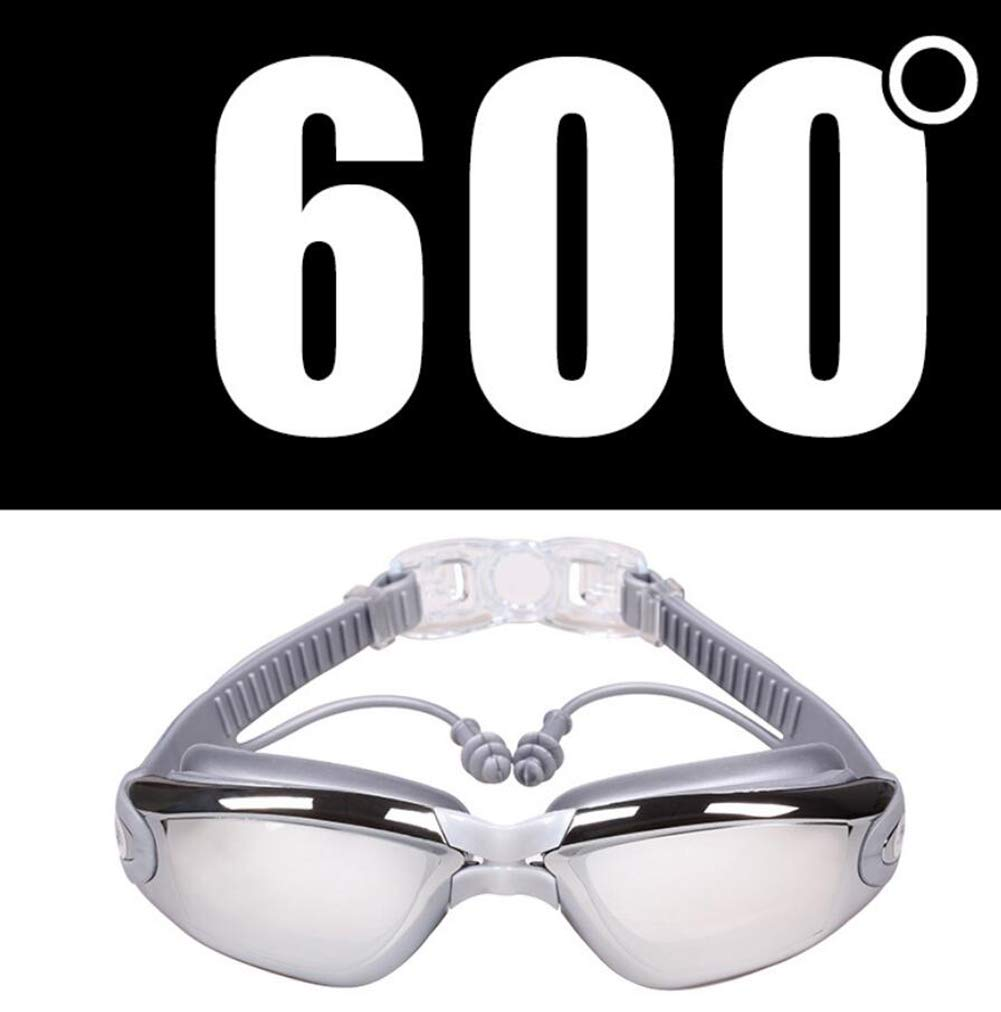 600 RX Optical Swim Goggles, Optical Corrective Swimming Goggles Leakproof AntiFog UV Predection Nearsighted Shortsighted Myopia for Men and Women