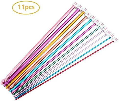 hothuimin 11 Pieces Crochet Hooks Aluminum Knitting Needles Set Multicolor 2 mm to 8 mm13-MYZG / hothuimin 11 Pieces Crochet Hooks Aluminum Knitting Needles Set Multicolor 2 mm to 8 mm13-MYZG