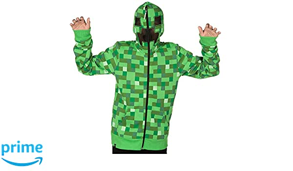 Minecraft Creeper No Face Premium Zip Up Youth Hoodie