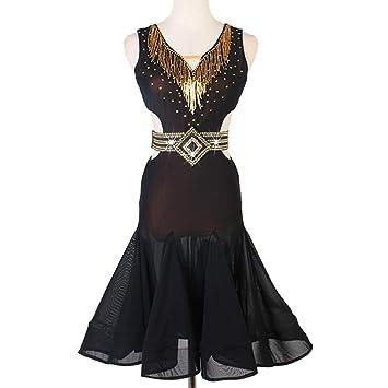 Vestido de Competición de Baile Latino para Mujer Señoras ...