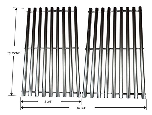 Thermos Grill Replacement Parts (GS5022 Stainless Steel Cooking Grid Replacement for Gas Grill Model Charbroil 463250210, 463250211, 463250212, 463251413, 463251414, 466251413, Set of 2)