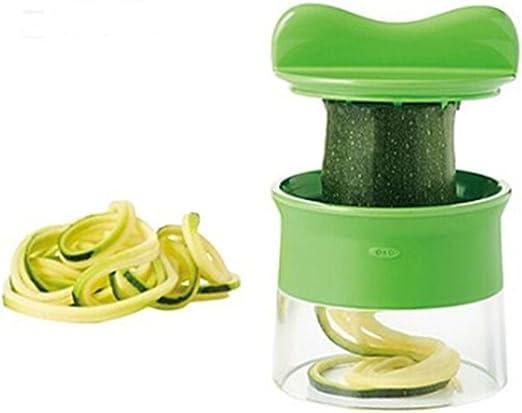 Compra Premium pequeño Cortador en espiral mano para verduras Patatas Para Espaguetis Ramo de libro de cocina mini Robot de cocina con el cepillo para la limpieza de calabacines, Pepino Schneider, Pepino