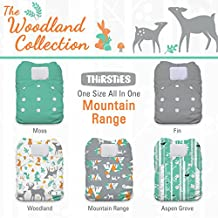 Thirsties Package-One Size All in One Hook and Loop-Woodland Collection, Mountain Range