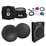 "Lanzar VCTBS10 800-Watt 10"" Super Slim Subwoofer Bundle Combo With 2x 6.5"" 2-Way Custom Component Speakers + 2x 4"" 3-Way 150W Black Car Audio Speakers + Complete Amplifier/Woofer/Speaker Install Kit"