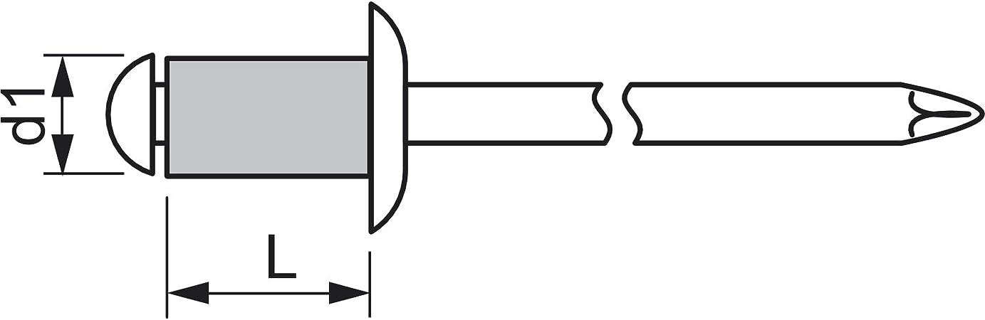 Gesipa main Pince /à riveter aluminium 5/x 30/mm Lot de 100