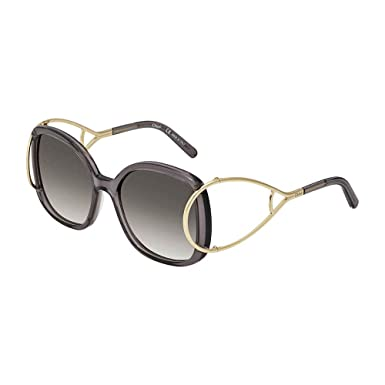 35a3a39d0df5 Chloe Sunglasses CE702S 035 Gold Grey Grey Gradient at Amazon Men s ...
