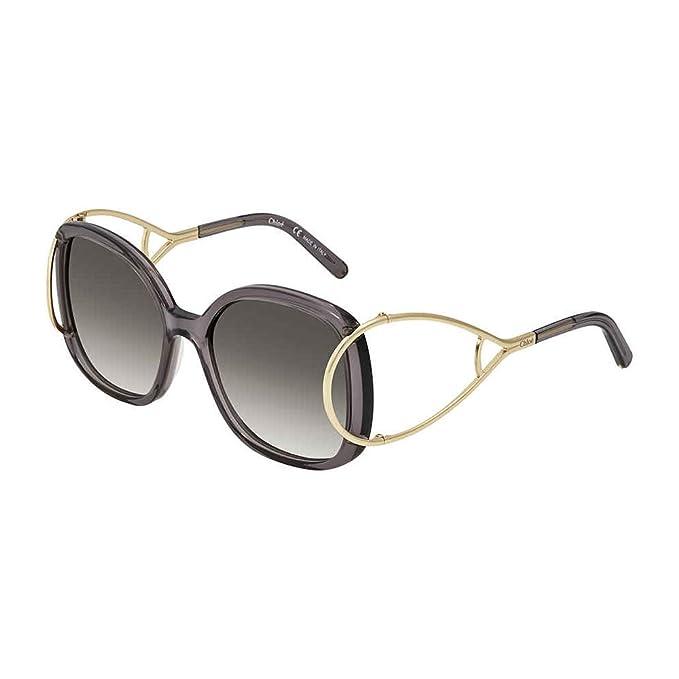 15e3340f30a Chloe Sunglasses CE702S 035 Gold Grey Grey Gradient  Amazon.in  Clothing    Accessories