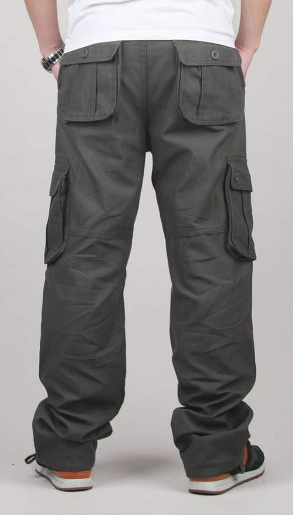 Amazon.com: Hombres Cargo Pantalones Largos de primavera del ...