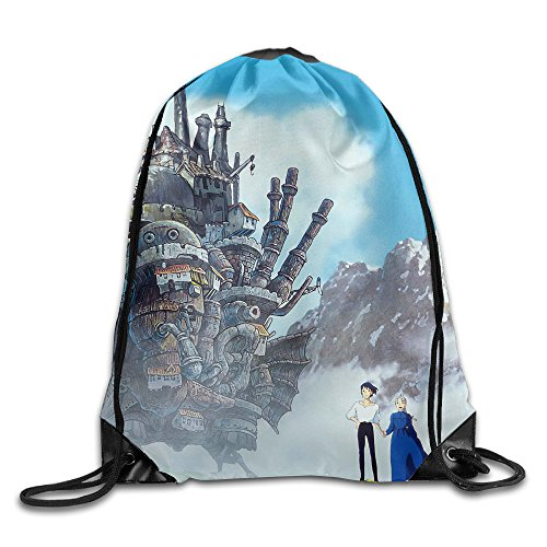 Howl's Moving Castle Drawstring Backpack Sack Bag