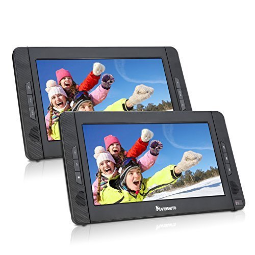 "NAVISKAUTO 10.1"" Dual Screen DVD Player Ultra-thin TFT"