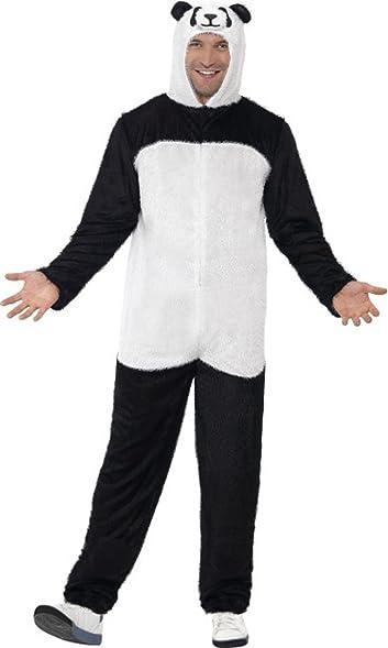 Amazon.com: Men\'s Animal Fancy Dress Party Panda Costume Black ...
