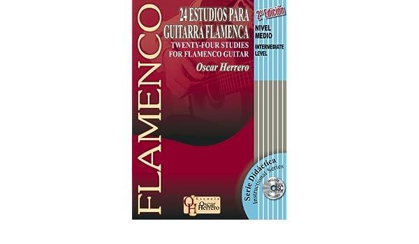 24 ESTUDIOS PARA GUITARRA FLAMENCA Nivel Medio Libro de Partituras ...