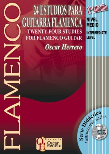 24 Studies For Flamenco Guitar, Intermediate Level Book/CD Set 2nd Edition