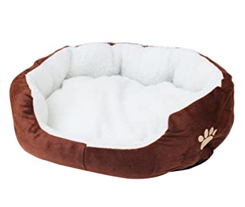 Hosaire Mascotas Mat - Perro y Gato Caliente Suave Camas Para Mascotas Almohada Cama Cachorro Sofa Sofa Mat Perrera Pad size 50 x 40 x 15 cm (Marrón): ...