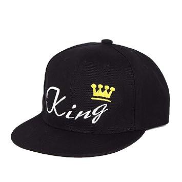 GAOXUQIANG Gorra de béisbol Rey Reina Corona Bordado Snapback ...