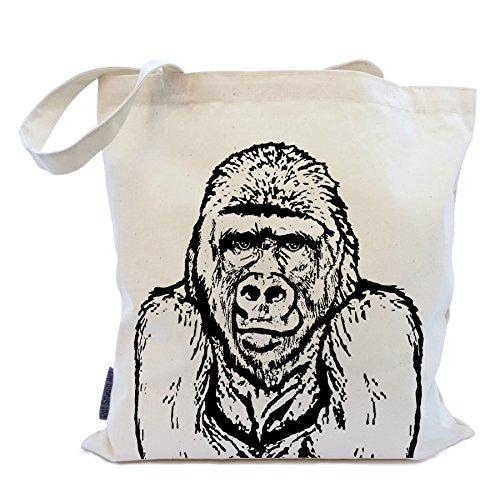 The Gorilla Tote Bag by Pet Studio Art