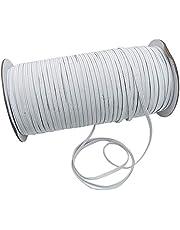 Elástico Cinta Negro y Blanco 3 mm de ancho y 100/65/185 m de largo elástica cuerda para Manualidades DIY Ropa Pretina