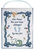 Manual Our Home Boy Nursery Wallhanging Bannerette w/Rod - 13x18'' Blue