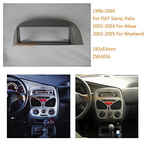 Autostereo Car Radio Installation Trim Fascia for FIAT Siena Palio 1996-2004 Albea 2002-2004 Weekend 2002+ Car Radio Installation Frame Single 1 Din 18253mm