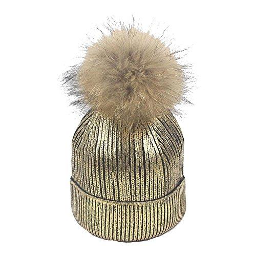 del nuevo hot caliente que hace casquillo Volumen Hairball e silver caliente 56 del sombrero punto El YANXH Casquillo la lado Mantenga invierno Srta Luz de Junta oro black bronzing el Otoño black 58cm m Rq85nwOx
