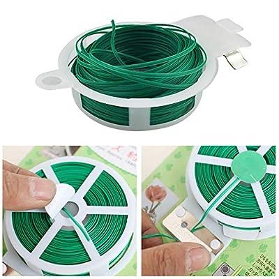 Wnvivi 164ft Garden Plant Twist Tie, Twist Tie with Cutter, Green Coated Garden Plant Ties with Cutter for Gardening and Office Organization, Home : Garden & Outdoor