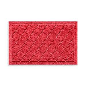 Weather GUARDTM 45,7cm x 71,5cm Argyle alfombrilla de puerta en color rojo