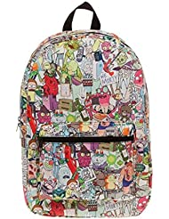 Rick and Morty Sublimated Full-sized School Backpack