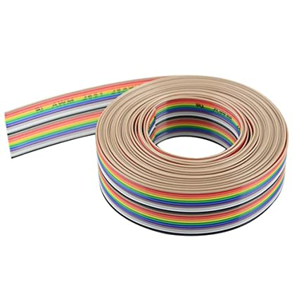 de8b308b6574 Image Unavailable. Image not available for. Color  XLX 20pin Wire Rainbow  Color Flat Ribbon IDC ...